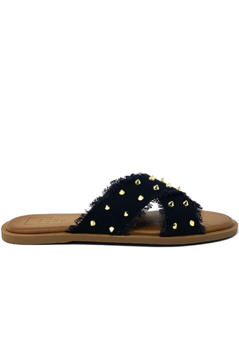 Berta Studded Sandals (Assorted Colors)