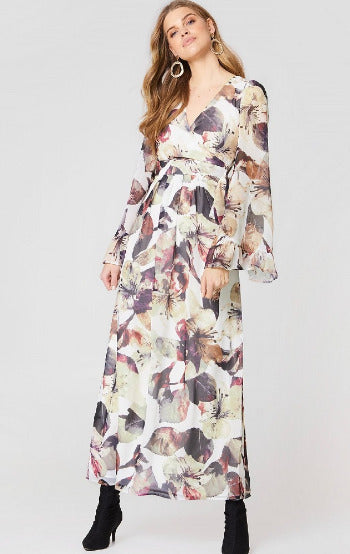 Hailey Wrap Floral Maxi Dress