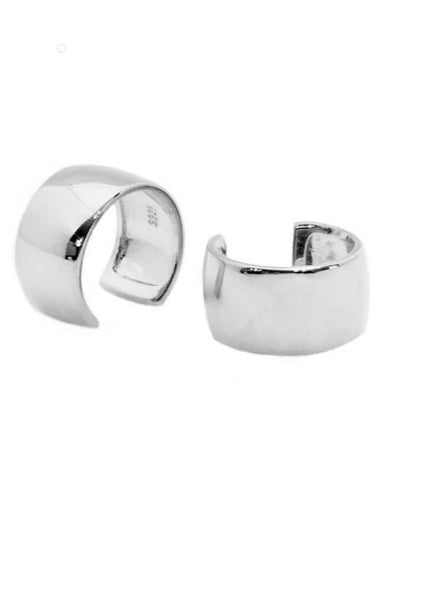 Sterling Silver Large Plain Cuff (Assorted Colors)