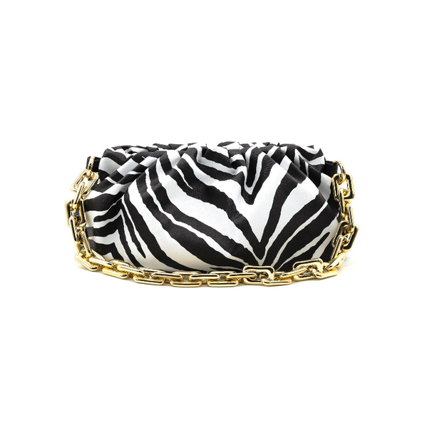 Solid or Animal Print Gold Chain Clutch (Assorted Colors)