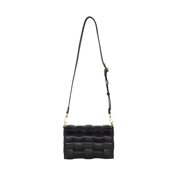 Woven Puffy Handbag with Link Chain (Assorted Colors)