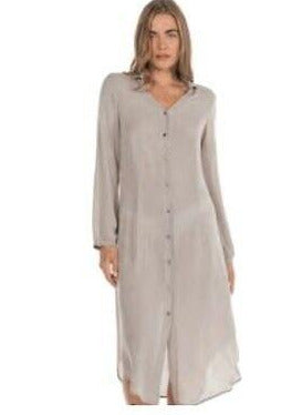 AquaVita Maxi Shirt Dress