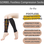 Load image into Gallery viewer, Footless Compression Socks