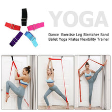 Load image into Gallery viewer, Now you can exercise your flexibility while staying at home.   FREE & FAST SHIPPING in US!   Stretcher Strap for Ballet, Cheer, Dance, Gymnastics, Trainer, Yoga.