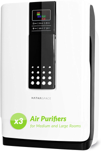 Smart True HEPA Air Purifier for Large Rooms - 3 PCS