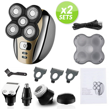 Load image into Gallery viewer, Flexible Grooming Kit - Head, Face, Body, Nose Ears Trimmer and Shaver - 2 x set