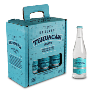 Tehuacán Brillante - Sparkling Water, Naturally Mineralized by Volcanic Rock! (6-12oz Bottles)