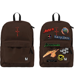 Travis Scott Cactus Jack - Backpack With Patch Sept Brown