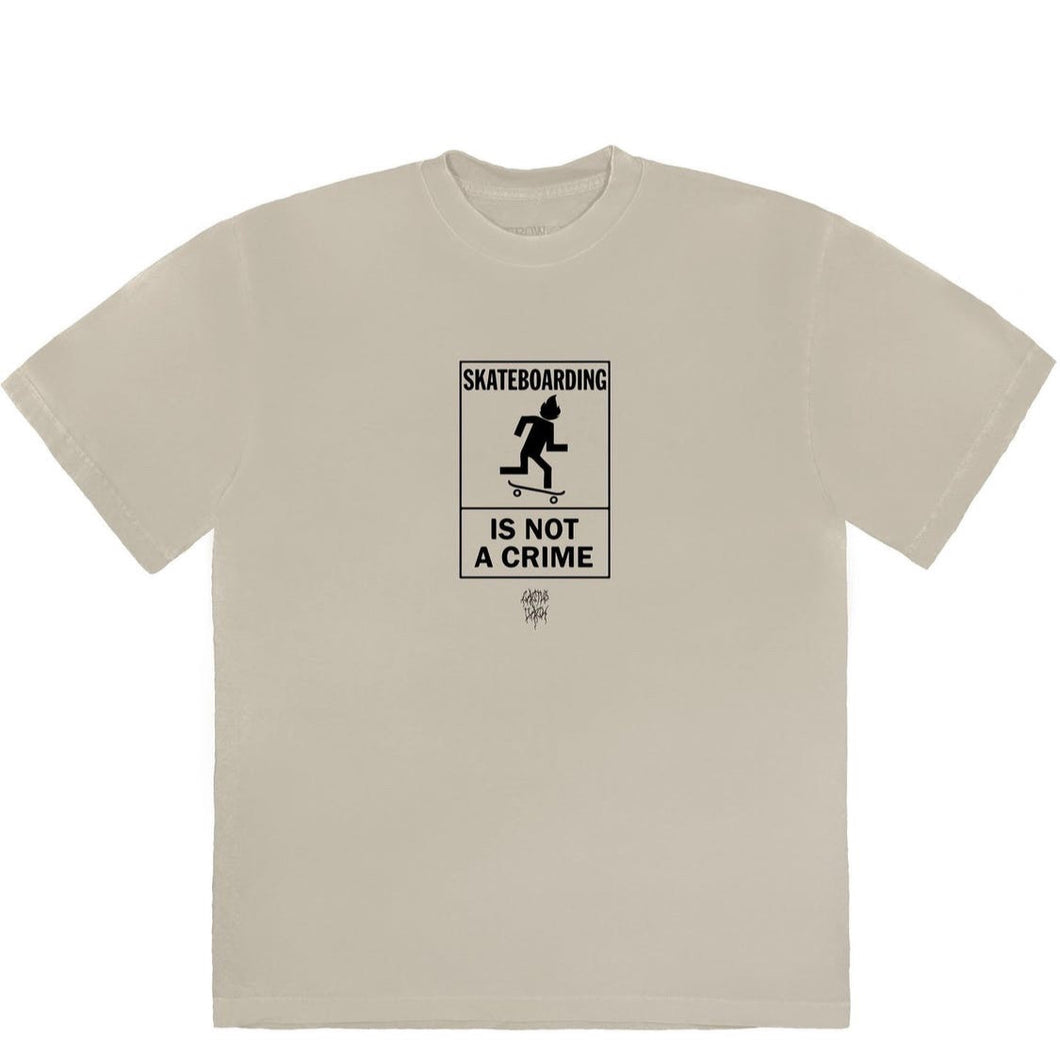 Travis Scott Not A Crime Tee Beige