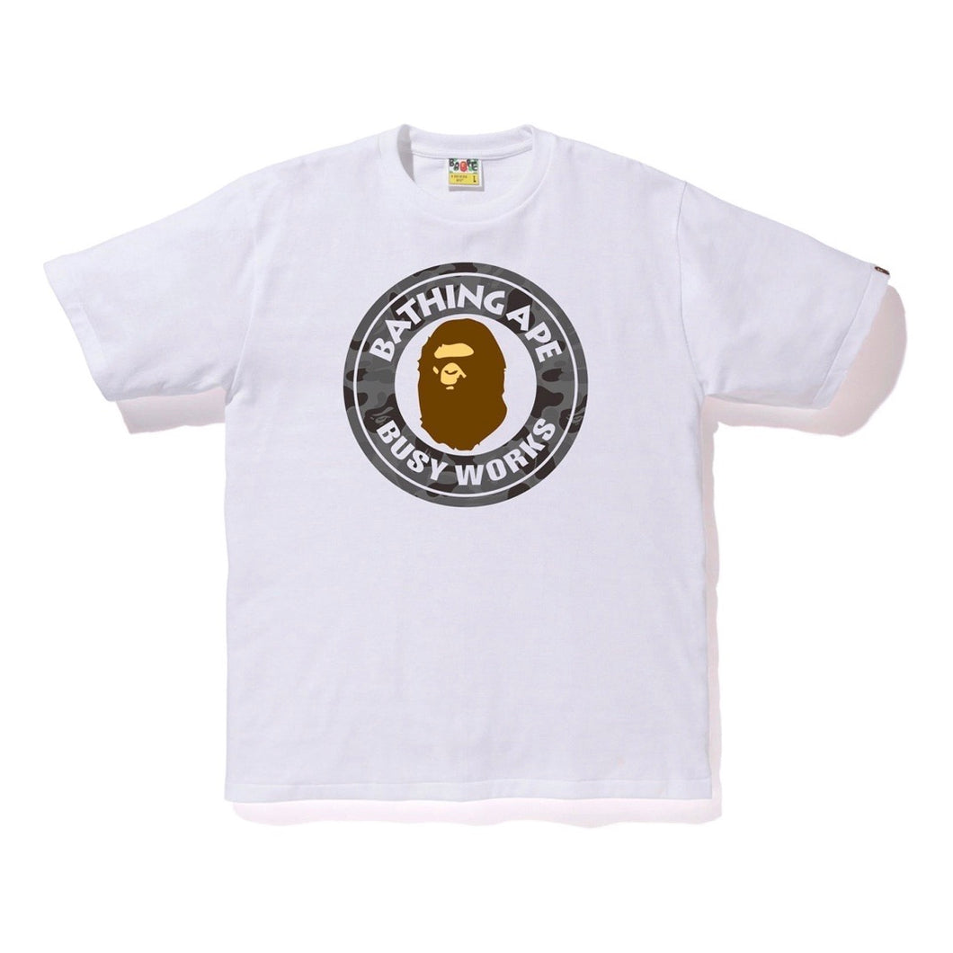 BAPE ABC Camo Busy Works Tee - White/Black