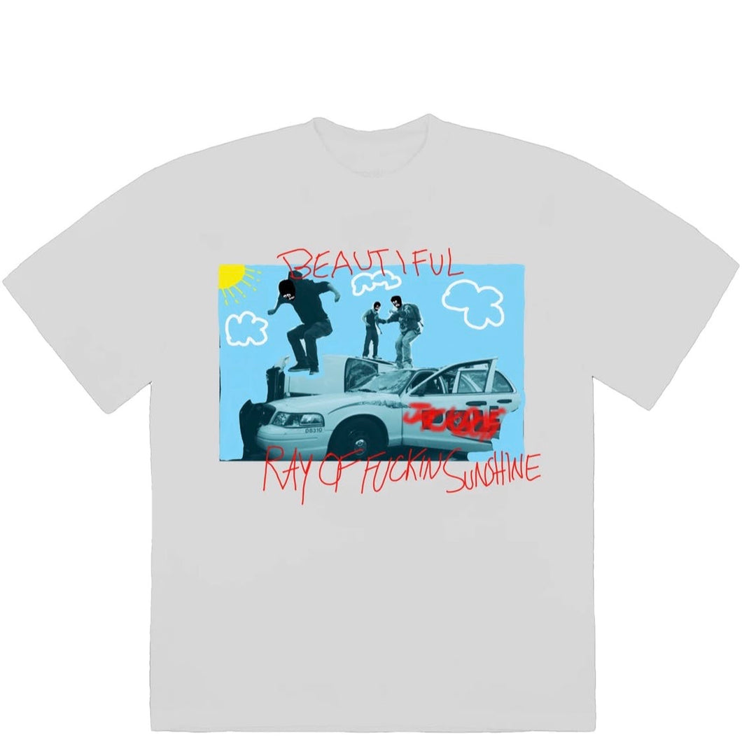 Travis Scott JACKBOYS Ray of Sunshine Tee White
