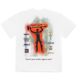Travis Scott The Scott's Rage Emote - Tee White