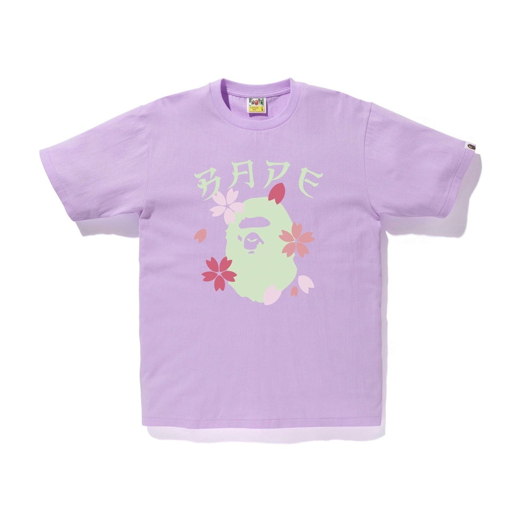 BAPE Sakura Ape Head Tee - Purple