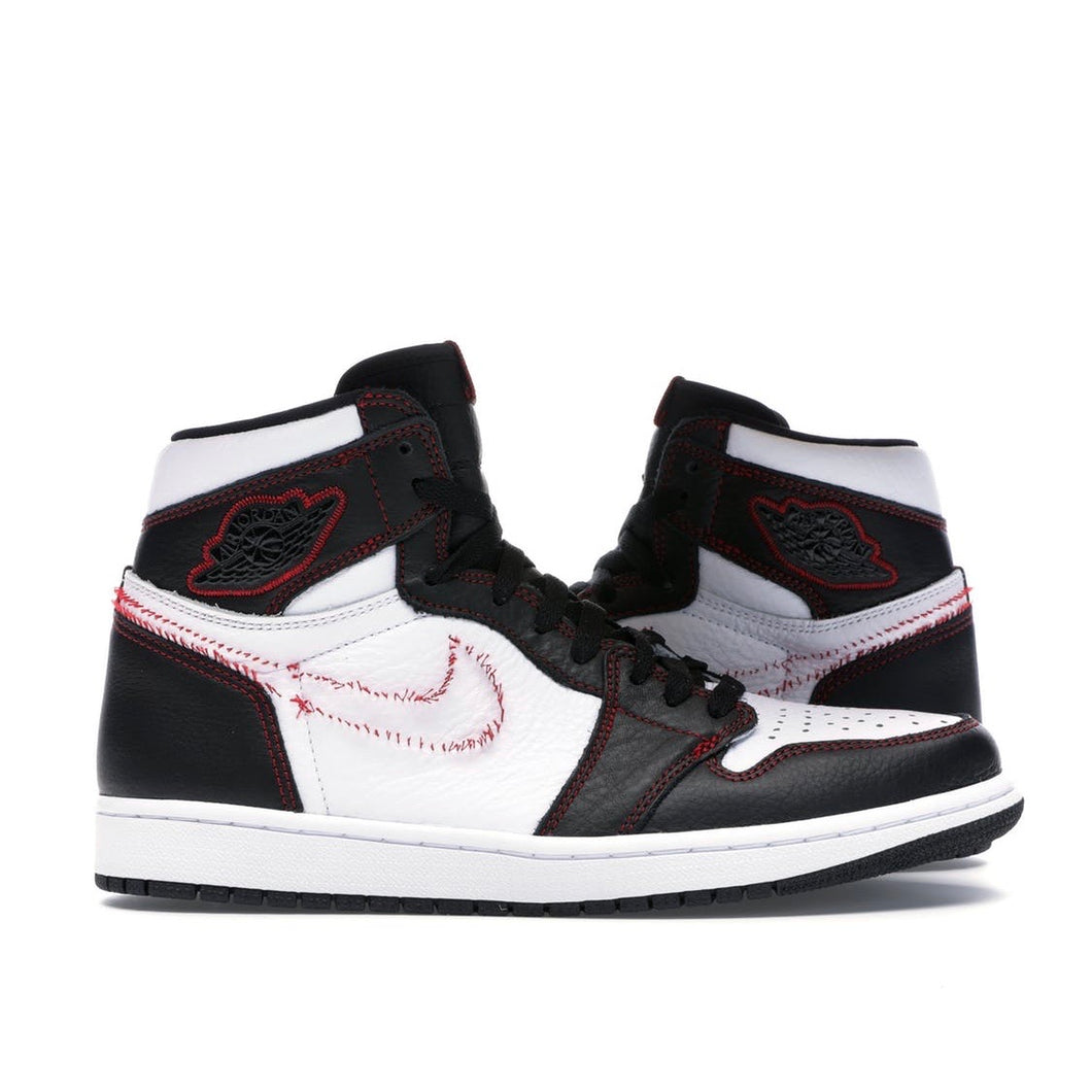 Jordan 1 Retro High - Defiant White Black Gym Red