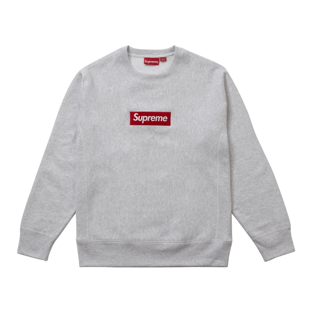 Supreme Box Logo Crewneck - (FW18) Ash Grey