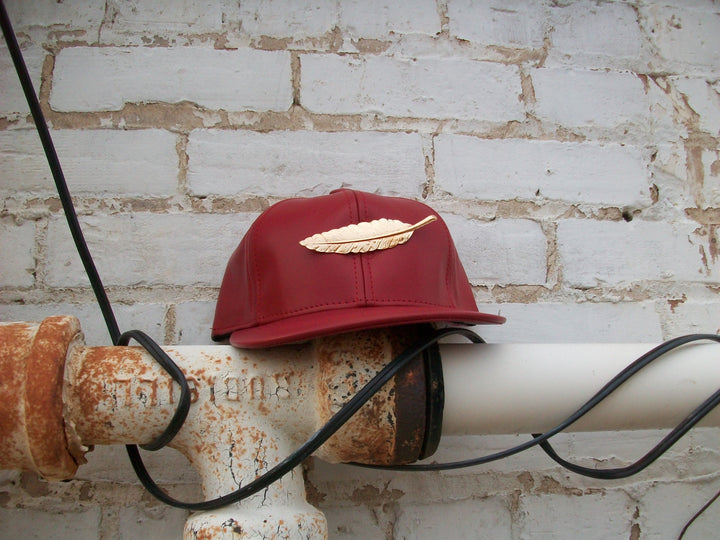 T. TURMAINE Leather Strapback |Red