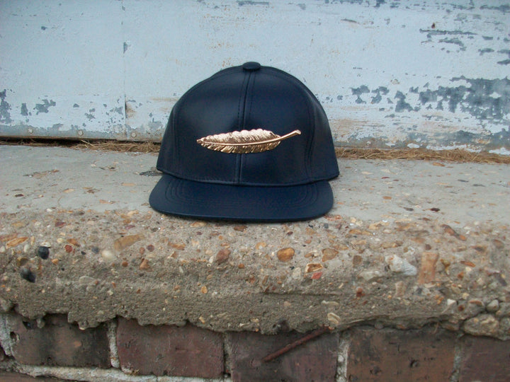 T. TURMAINE Leather Strapback |Navy