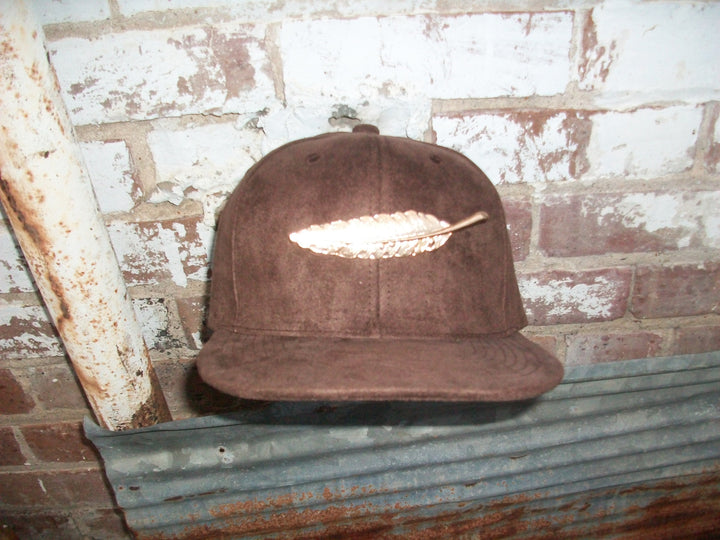 T. TURMAINE Leather Strapback |Brown Suede