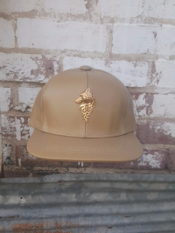T. TURMAINE Wolf Leather Strapback |Tan