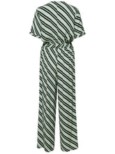 Load image into Gallery viewer, Selected Femme - V Neck Jumpsuit Green