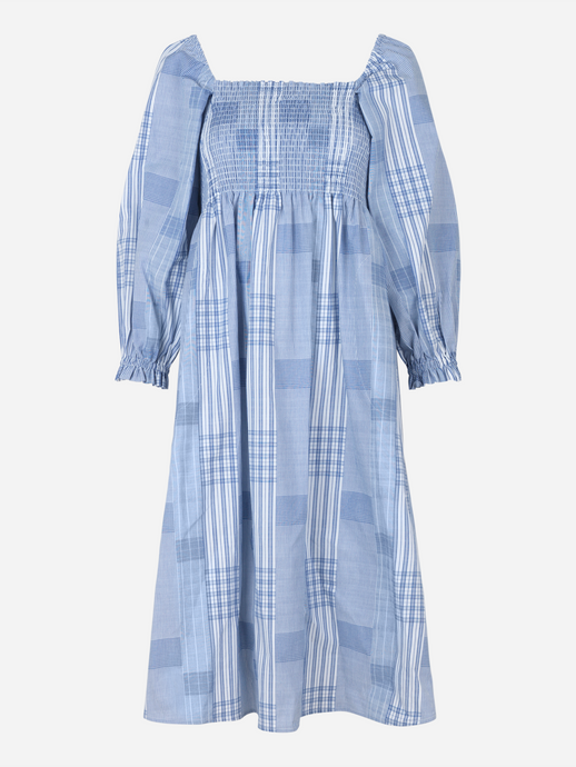 munthe_folloma_blue_dress_atterley_lytham_lancashire_boutique_shop_local_uk_stockists_scandi_style_copenhagen_Fashion_week_summer_dresses