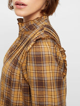 Load image into Gallery viewer, yas_golden_checks_dress_yellow_wintersale_lytham_bestseller_copenhagen_scandifashion