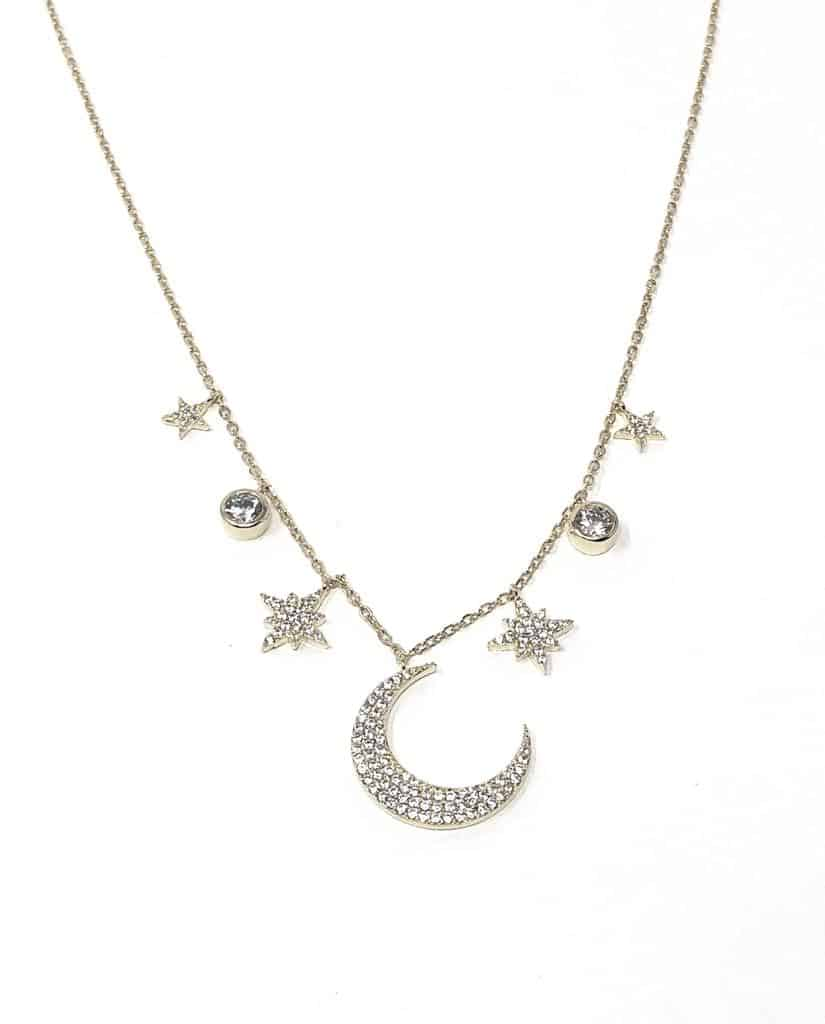 iCandi Rocks - Wendy Moon Silver Necklace