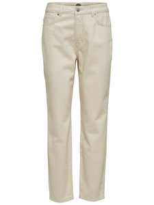 Selected Femme - High Waist Slim Fit Jean Off White Denim