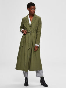 Selected Femme - Organic Cotton Coat Watercress