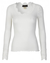 Load image into Gallery viewer, rosemunde_lace_silk_white_blend_toppe_mads_nordaard_copenhagen_uk_stockists_discount_code