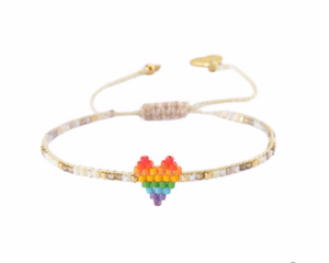 Mishky - Rainbow Heartsy Row Bracelet