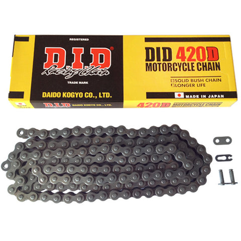 Motorcycle Chain DID Heavy Duty Black 420 D 134 (RJ)