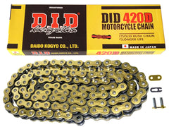 DID Gold Motorcycle Chain Standard 420 DGB 132 (RJ)