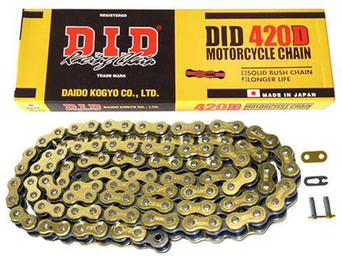 DID Gold Motorcycle Chain Standard 420 DGB 130 (RJ)
