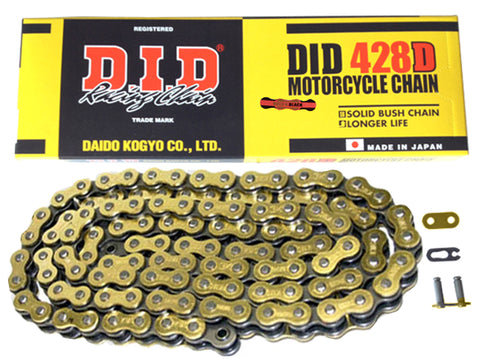 DID Gold Motorcycle Chain Standard 428 DGB 126 (RJ)