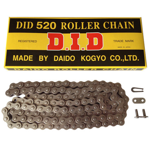 Motorcycle Chain DID Standard Roller Black 520 D 108 (RJ)