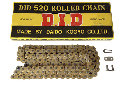 Motorcycle Chain DID Standard Roller Gold 520 DGB 118 (RJ)