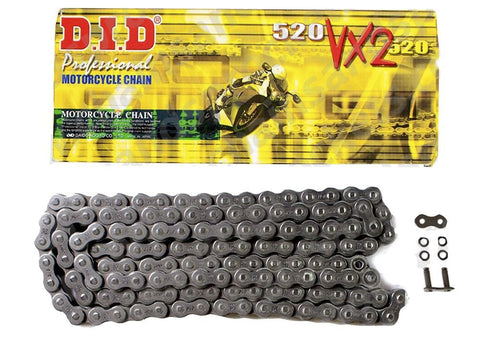 Motorcycle Chain DID X-Ring Black 520 VX2 122 (ZJ)