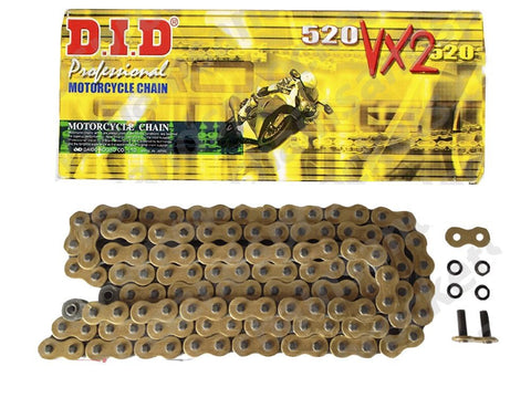 Motorcycle Chain DID X-Ring Gold 520 VX2GB 122 (ZJ)