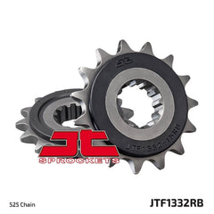 JTF1332 Rubber Cushioned Front Drive Motorcycle Sprocket 15 Teeth (JTF 1332.15 RB)