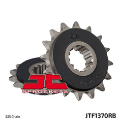 JTF1370 Rubber Cushioned Front Drive Motorcycle Sprocket 15 Teeth (JTF 1370.15 RB)