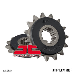 JTF1371 Rubber Cushioned Front Drive Motorcycle Sprocket 15 Teeth (JTF 1371.15 RB)