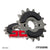 JTF308 Rubber Cushioned Front Drive Motorcycle Sprocket 14 Teeth (JTF 308.14 RB)