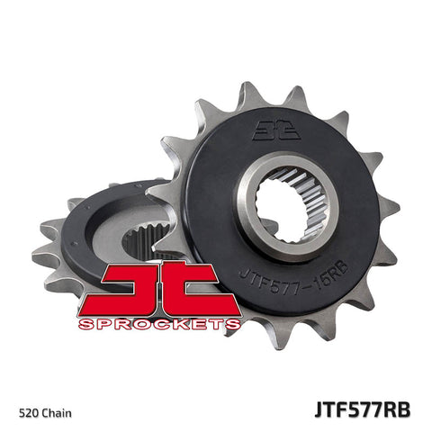 JTF577 Rubber Cushioned Front Drive Motorcycle Sprocket 15 Teeth (JTF 577.15 RB)