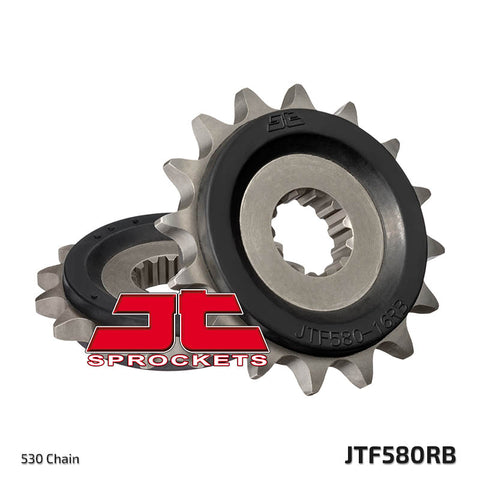 JTF580 Rubber Cushioned Front Drive Motorcycle Sprocket 17 Teeth (JTF 580.17 RB)