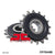 JTF704 Rubber Cushioned Front Drive Motorcycle Sprocket 16 Teeth (JTF 704.16 RB)