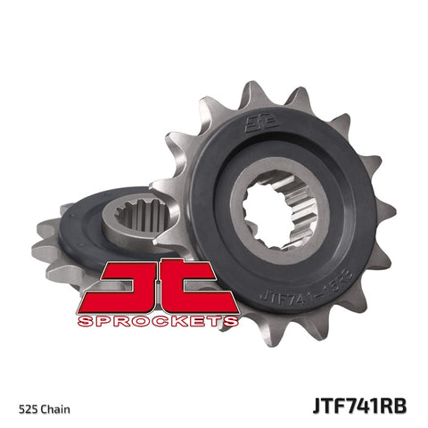 JTF741 Rubber Cushioned Front Drive Motorcycle Sprocket 15 Teeth (JTF 741.15 RB)