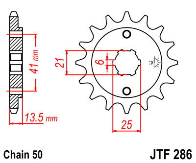 JTF286 Front Drive Motorcycle Sprocket 15 Teeth (JTF 286.15)