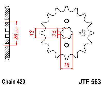 JTF563 Front Drive Motorcycle Sprocket 11 Teeth (JTF 563.11)