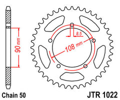 Rear Motorcycle Sprocket for Ducati_750 F1 -3 SS_88